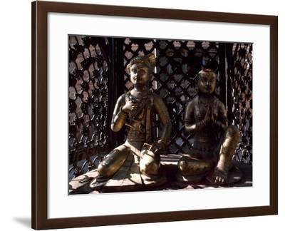 Nepal, Bronze Sculptures Depicting Sovereign, Changu Narayan, Kathmandu Valley--Framed Photographic Print