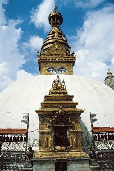 Nepal, Kathmandu District, Kathmandu, Temple of Swayambhunath--Giclee Print