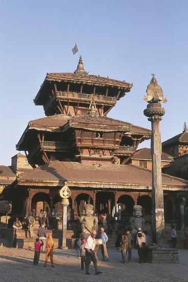 Nepal, Kathmandu Valley, Bhaktapur, Temple of Dattatreya--Giclee Print