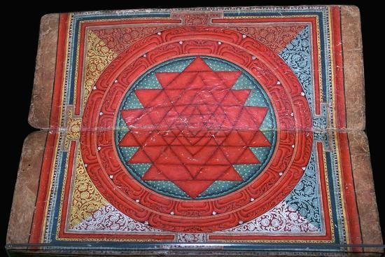 Nepalese yantra painted on manuscript, 16th century. Artist: Unknown-Unknown-Giclee Print