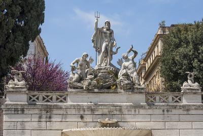 Neptune Fountain in Piazza Del Popolo, Rome, Lazio, Italy-James Emmerson-Photographic Print