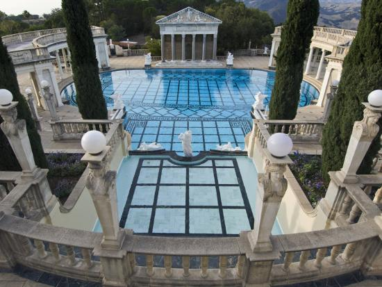 Neptune Pool at Hearst Castle, San Simeon, California, USA-Rob Tilley-Photographic Print