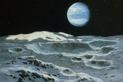 Neptune Seen From Triton-Ludek Pesek-Photographic Print