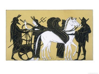 Neptune with His Chariot and Winged Horses- Decharme-Giclee Print