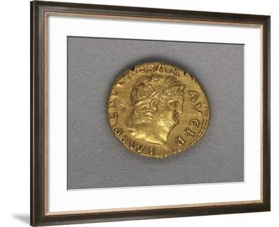 Nero Aureus Bearing Image of Emperor, Minted by Mint of Rome, Ad 64-65, Recto, Roman Coins AD--Framed Giclee Print