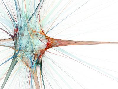 Nerve Cell, Abstract Artwork-Laguna Design-Photographic Print