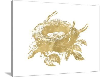 Nest Golden White-Amy Brinkman-Stretched Canvas Print