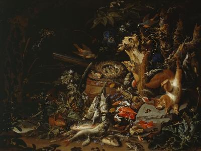 Nest of Redstarts with White Head, Undated-Abraham Mignon-Giclee Print