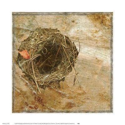 Nest Red Leaf-Susan Friedman-Art Print