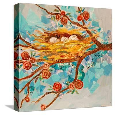 Nest With Buds--Stretched Canvas Print