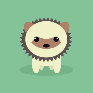 Cute Cartoon Porcupine by Nestor David Ramos Diaz