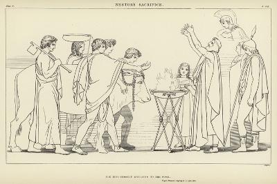 Nestor's Sacrifice-John Flaxman-Giclee Print