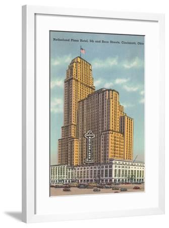 Netherland Plaza Hotel, Cincinnati--Framed Art Print