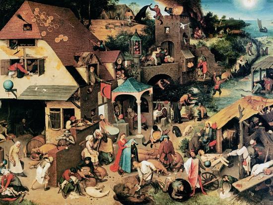 Netherlandish Proverbs, 1559-Pieter Bruegel the Elder-Giclee Print