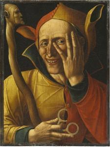 Laughing Jester by Netherlandish School