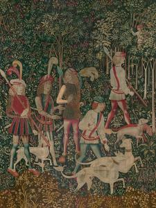 The Hunters Enter the Woods, c.1500 by Netherlandish School