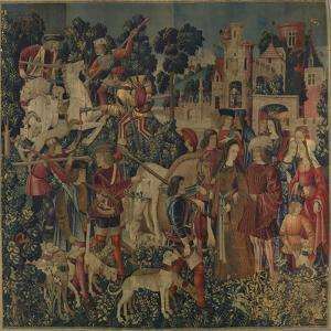 The Unicorn is Killed and Brought to the Castle, c.1500 by Netherlandish School