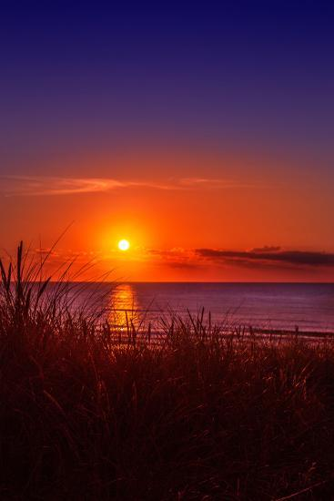 Netherlands, Holland, Beach on the West Frisian Island of Texel, North Holland, Sunset-Beate Margraf-Photographic Print