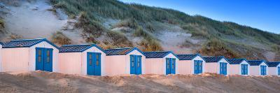 Netherlands, Holland, on the West Frisian Island of Texel, North Holland, Huts on the Beach-Beate Margraf-Photographic Print