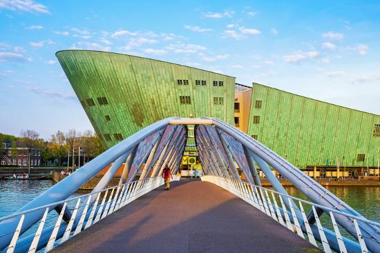 Netherlands, North Holland, Amsterdam. Science Center NEMO science museum, designed by Renzo Piano.-Jason Langley-Photographic Print