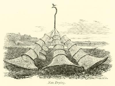 Nets Drying--Giclee Print