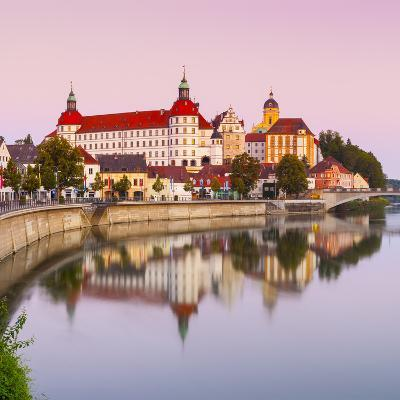 Neuburg Castle Reflected in the River Danube at Dawn, Neuburg, Neuburg-Schrobenhausen-Doug Pearson-Photographic Print