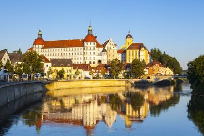 Neuburg Castle Reflected in the River Danube, Neuburg, Neuburg-Schrobenhausen, Bavaria, Germany-Doug Pearson-Photographic Print