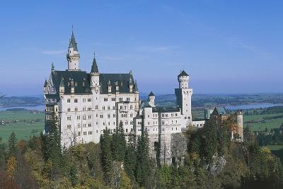 Neuschwanstein Castle, 1869-1886, Built by King Ludwig II of Bavaria, Near Fussen, Bavaria, Germany--Photographic Print