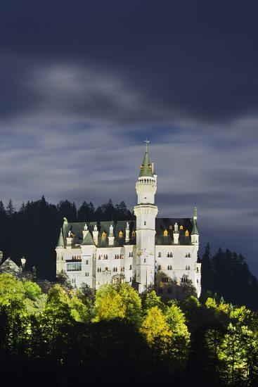 Neuschwanstein Castle, Allg?u, Upper Bavaria, Bavaria, Germany-Rainer Mirau-Photographic Print