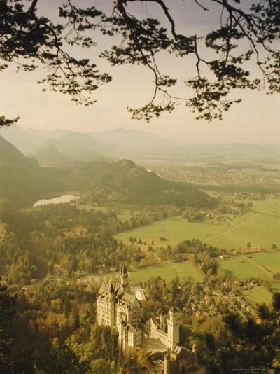 Neuschwanstein Castle, Bavaria, Germany, Europe-Charles Bowman-Photographic Print