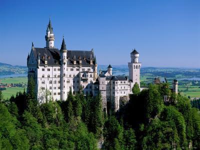 Neuschwanstein Castle, Bavaria, Germany-Steve Vidler-Photographic Print