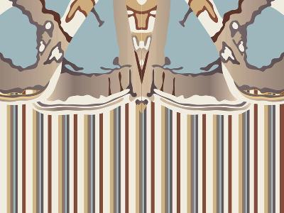 Neutral Blue Striped Ascension-Belen Mena-Giclee Print