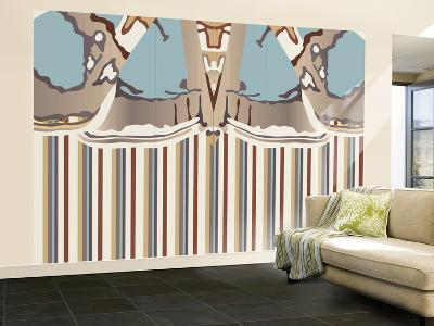 Neutral Blue Striped Ascension-Belen Mena-Wall Mural – Large