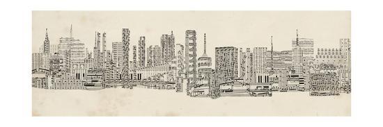 Neutral City Sounds-Sharon Chandler-Art Print