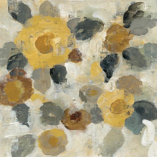 Neutral Floral Beige II Yellow Flowers-Silvia Vassileva-Art Print