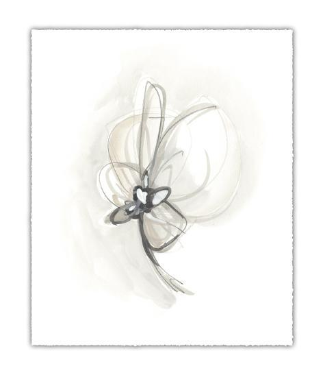 Neutral Floral Gesture II-June Erica Vess-Limited Edition