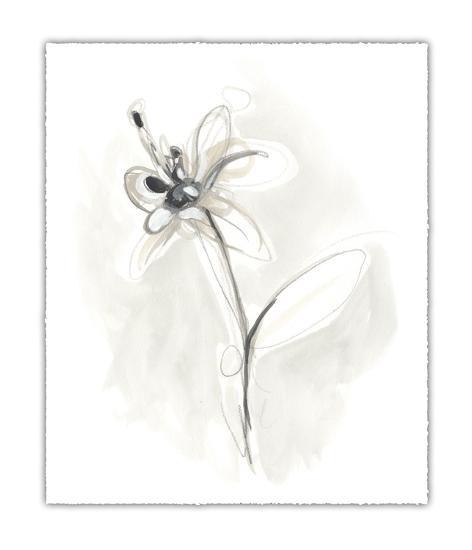 Neutral Floral Gesture IX-June Erica Vess-Limited Edition