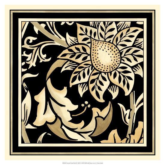 Neutral Floral Motif II-Vision Studio-Art Print
