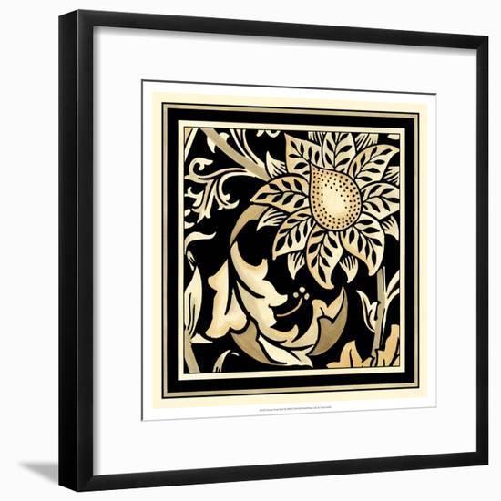 Neutral Floral Motif II-Vision Studio-Framed Art Print