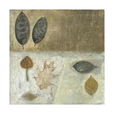 Neutral Leaves III-Elena Ray-Art Print
