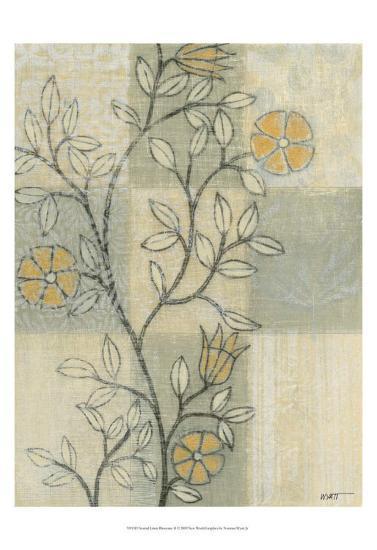 Neutral Linen Blossoms II-Norman Wyatt Jr^-Art Print