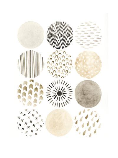 Neutral Pattern Play II-June Vess-Art Print