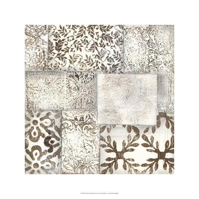 Neutral Patterned Patchwork II-Jennifer Goldberger-Limited Edition