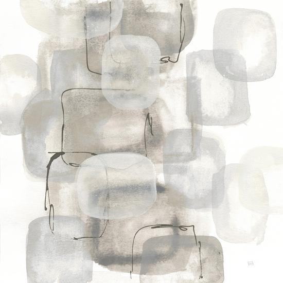Neutral Stacking I White-Chris Paschke-Art Print