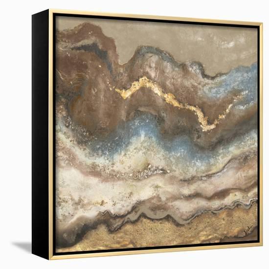 Neutral Tierra Square-Patricia Pinto-Framed Canvas Print
