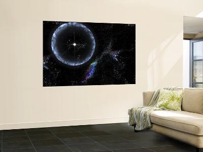 Neutron Star SGR 1806-20 Producing a Gamma Ray Flare--Wall Mural