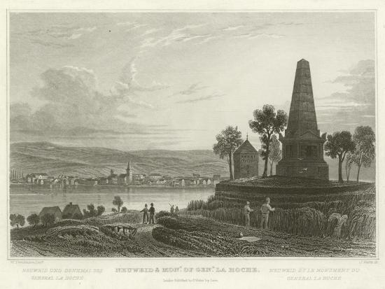 Neuweid and Monument of General La Hoche-William Tombleson-Giclee Print
