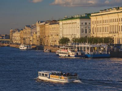 Neva River, Saint Petersburg, Russia-Walter Bibikow-Photographic Print