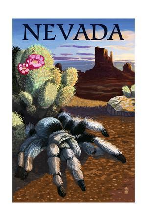 Nevada - Blond Tarantula-Lantern Press-Art Print