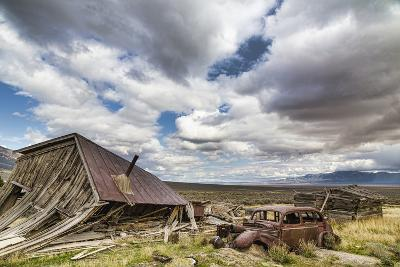 Nevada, Cherry Creek. Collapsed Building and Rusted Vintage Car-Jaynes Gallery-Photographic Print